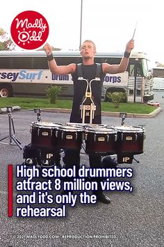 A high energy drumline performance displays the speed and accuracy demanded by the role. And these drummers have earned their stripes. They do not miss a beat or a stroke and nobody is half a beat ahead or behind. The performance is flawless, and what's depicted in the video is just the rehearsal. #music #band #drums #drumline Live Music, Good Music, Drumline, Drummers, High Energy, Great Bands, Mtv, Human Body, Attraction