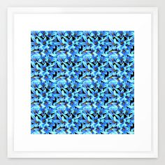 Beautiful Pattern Design ,society6,Turquoise Blue Abstract Flower Pattern Framed Art Print,https://society6.com/costa