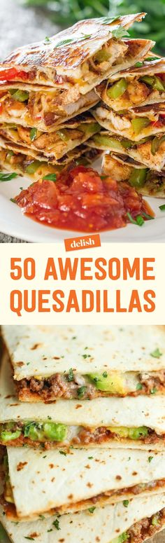 Italian Sausage Quesadillas with Spicy Tomato Sauce