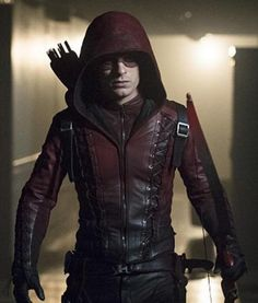 Get a Red Hooded Arrow Arsenal jacket for sale. This Roy Harper jacket for sale at discounted price at our online store fit jackets Arrow Tv, Red Arrow, Arsenal Arrow, Oliver Queen Arrow, Leather Jacket With Hood, Dc Movies, Comic Movies, Colton Haynes, Black Lightning
