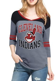 46a9c597228d2  47 Cleveland Indians Womens Blue Replay Rush Long Sleeve T-Shirt Cleveland  Indians Hat