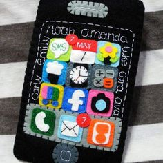 This is a custom handmade iPhone cozy with all the lovely names on it. I would like to personalize your iPhone cozy with your name, message, app, date, time, etc. Leave me a message for your enquiry. I love to custom handmade with lots of love. ❤