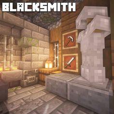 """Minecraft Inspiration on Instagram: """"I love this little blacksmith build by @freshminec in 2020 Minecraft interior design Minecraft architecture Minecraft construction"""