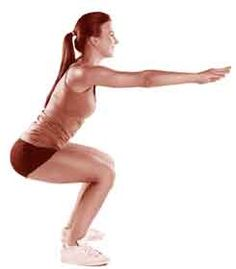 squat cuisses serrées pour renforcer le droit antérieur