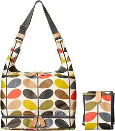 Orla Kiely Baby Bag with Changing Mat - Classic Multi Stem