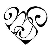 Tatuaggio di Cuore M+S, Legame, affetto tattoo - custom tattoo designs on TattooTribes.com