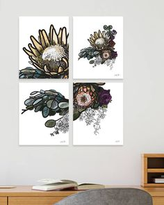 """Protea print Flower art Printable art Instant download Protea USE THE CODE """"PINTEREST"""" TO RECEIVE 30% OFF!"""