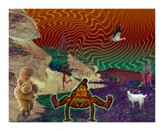 On top of the mountainBo op die Berg Self Realization, Lucid Dreaming, Embedded Image Permalink, Surrealism, Illusions, Poses, Artwork, Animals, Painting
