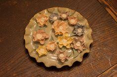 Set of 12 Vintage Spring Ruffle Flowers with by SeasonablyAdorned, $15.00