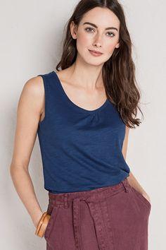 Chy Organic Cotton Vest Top- Seasalt
