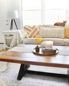Coffee Table Dimension Guide | Ashley HomeStore Home Decor Furniture, Cool Furniture, Diy Home Decor, Simple Living Room Decor, Beautiful Living Rooms, Interior Design Guide, Coffee Table Dimensions, Just Dream, Simple House