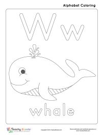 w is for whale preschool letter lessons pinterest whales. Black Bedroom Furniture Sets. Home Design Ideas