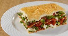 Receita de lasanha vegetariana com molho bechamel title=