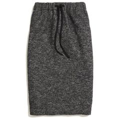 MADEWELL Game Plan Skirt ($70) ❤ liked on Polyvore featuring skirts, marled black, pencil skirt, long pencil skirt, mid length pencil skirt, below knee skirts and long skirts