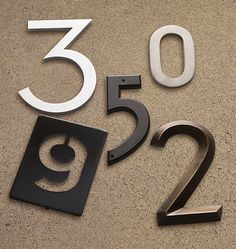 Outdoor Easy Update: House Numbers from Rejuvenation