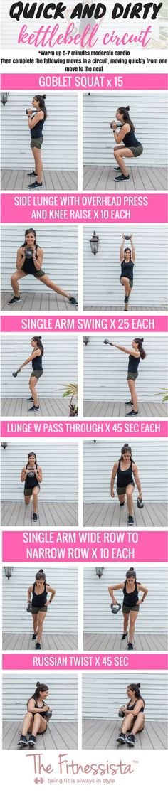 Total body kettlebell circuit workout! This workout will strengthen your entire body using a single kettlebell. | Posted By: NewHowToLoseBellyFat.com