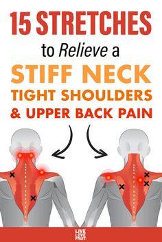 Neck And Shoulder Exercises, Neck And Shoulder Pain, Shoulder Workout, Stiff Shoulder, Posture Exercises, Back Strengthening Exercises, Hip Flexor Exercises, Sciatica Stretches, Workout Exercises