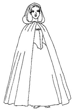 Mill Farm Long or Short Cloak Pattern for mid to late 18th century historic reenactor's and museum interpreter's costume. French and Indian War and American Revolution saw this type of gown in use.