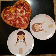 Personalized Dress up Plates from. Personalized kids dinner ... & Personalized Dress up Plates from @dylbug | Annabelle-Giulianna ...