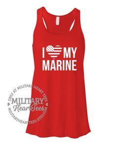I love my Marine Racerback Tank Top Custom by MilitaryHeartTees