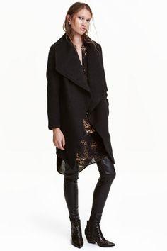 Casaco comprido com lã   H&M