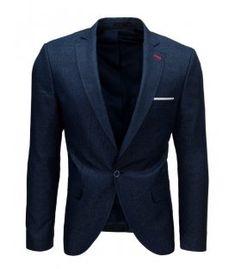 Tmavomodré pánske sako Blazer, Jackets, Fashion, Down Jackets, Moda, Fashion Styles, Blazers, Fashion Illustrations, Jacket