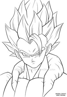 gogeta-DBZ-lineart by eduitachisan on DeviantArt Goku Drawing, Ball Drawing, Anime Boy Zeichnung, Drawing Superheroes, Anime Drawings Sketches, Anime Artwork, Deviantart, Pasta, Animated Cartoon Characters