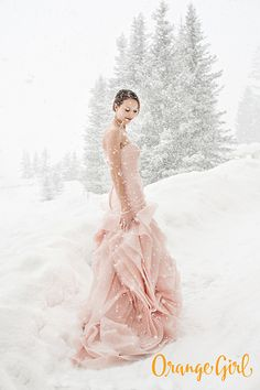 Love this too! So sharp! Not to mention a pink wedding dress? | Orange Girl