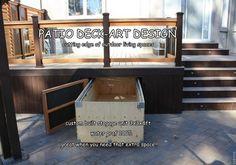 Under Deck Storage Design Ideas Pictures Remodel and Decor page 3 - Deck Storage - Ideas of Deck Storage Under Deck Storage, Porch Storage, Outdoor Storage, Firewood Storage, Home Porch, House With Porch, Deck Design, House Design, Design Design