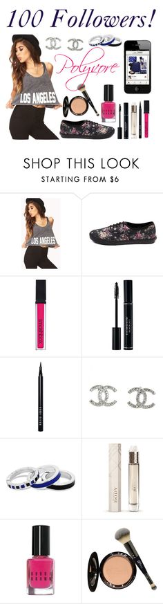"""100 Followers!"" by elise-22 ❤ liked on Polyvore featuring Forever 21, Vans, Smashbox, Bobbi Brown Cosmetics, Chanel, Principles by Ben de Lisi, Burberry and It Cosmetics"
