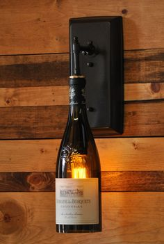 Wine Bottle Wall Sconce by MoonshineLamp on Etsy