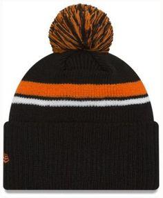 New Era Cincinnati Bengals Diamond Stacker Knit Hat - Black Orange  Adjustable Knit Hat For f9f7e1a0f