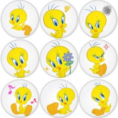 "TWITTY BIRD 1.75"" Badges Pinbacks, Mirror, Magnet, Bottle Opener Keychain http://www.amazon.com/gp/product/B00C321B7O"