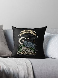 Once upon a midnight dreary, while I pondered, weak and weary • Millions of unique designs by independent artists. Find your thing. Kids Outfits, Cool Designs, Tapestry, Throw Pillows, Artists, Awesome, Unique, Hanging Tapestry, Tapestries