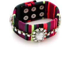 Juicy Couture Colorblock Thread Bracelet ($48) found on Polyvore