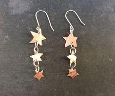 Handgemachte Kupfer und Sterling Silber Ohrringe. von Designvonmerrill auf Etsy