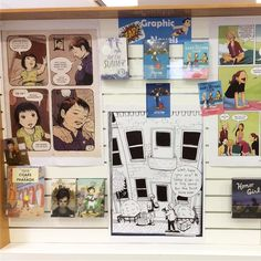 More of our #graphicnovel display. All of our #tintin collection  borrowed within the hour! #librariesofinstagram #librarydisplay