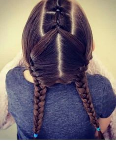 This gallery introduces the fun at the sametime cool hairstyles on the kids' hair. Cute Girls Hairstyles, Different Hairstyles, Hairstyles For School, Two French Braids, Girl Hair Dos, Toddler Hair, Hair Looks, Her Hair, Divas