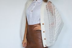 DIY Weekly – Shredded Knit Cape « a pair & a spare