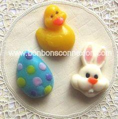 Easter kabob toppers - Figurines à brochettes de Pâques.  #bonbonspaques #eastercandy