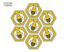 FREE Bumble Bee Party Printables from Printabelle Kostenlose Bumble Bee Party Ausdrucke von Printabelle Bee Template, Bee Cupcakes, Cupcake Toppers Free, Spelling Bee, Bee Crafts, Bee Happy, Party Printables, Birthday Bag, Cowboy Birthday