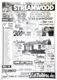 History of #Streamwood #Illinois