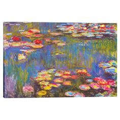 Water Lilies by Claude Monet Wall Art