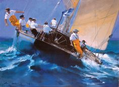 Racing The J-Class - limited edition giclée - Click Image to Close