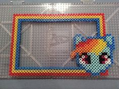 My Little Pony Rainbow Dash Perler Bead Frame by AshMoonDesigns on deviantART