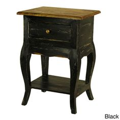 Le Bureau Distressed Mohogany Side Table with Secret Drawer | Overstock™ Shopping - Great Deals on Antique Revival Coffee, Sofa & End Tables