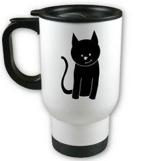 Cute Black Cat Coffee Mug