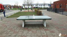 Pingpongtafel Afgerond Groen bij Basisschool De Drieluik in Almere