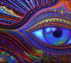 """☯☮ॐ American Hippie Psychedelic Art Eyes ~ Close both eyes ... look from the other eye."" Rumi ♥"