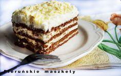 Pieruńskie maszkety - blog kulinarny: Rafaello a'la zebra ( ciasto bez pieczenia)